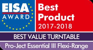 EISA-Award-Logo-Pro-Ject-Essential-III-Flexi-Range